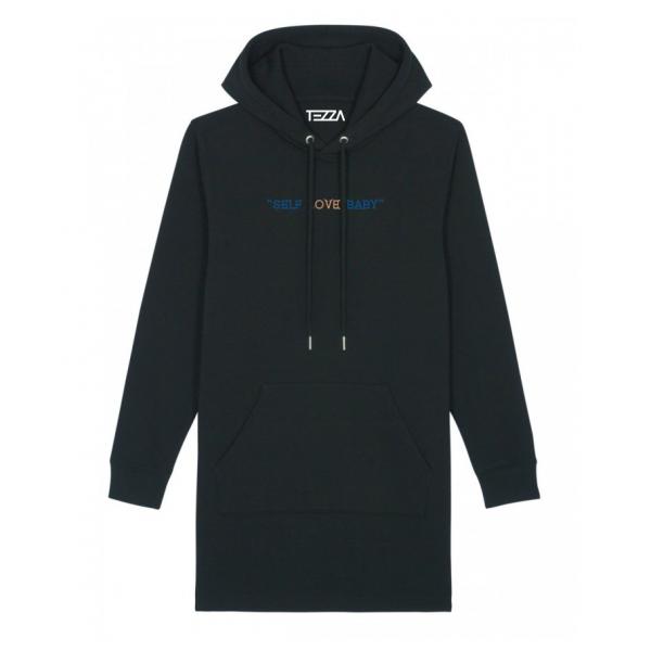 Love Hoodie Dress Black