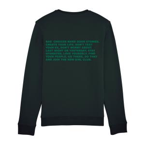 Text Sweater Black